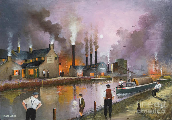 Painting - Bilston Steelworks by Ken Wood