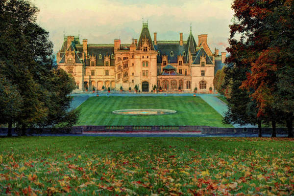 Photograph - Biltmore Autumn Painting by Carol Montoya