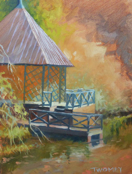 Alla Prima Painting - Biltmore Boat House by Catherine Twomey