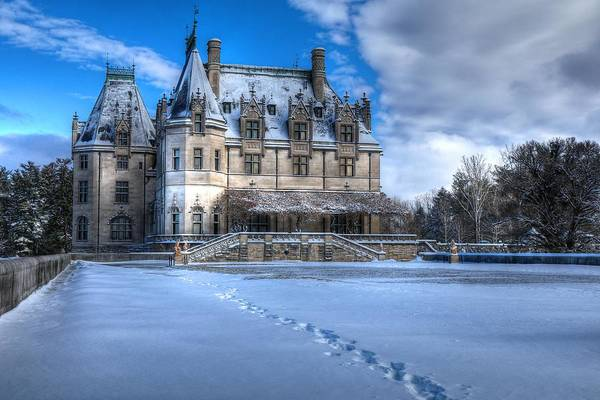 Photograph - Biltmore House From The Tea Room In Snow by Carol Montoya