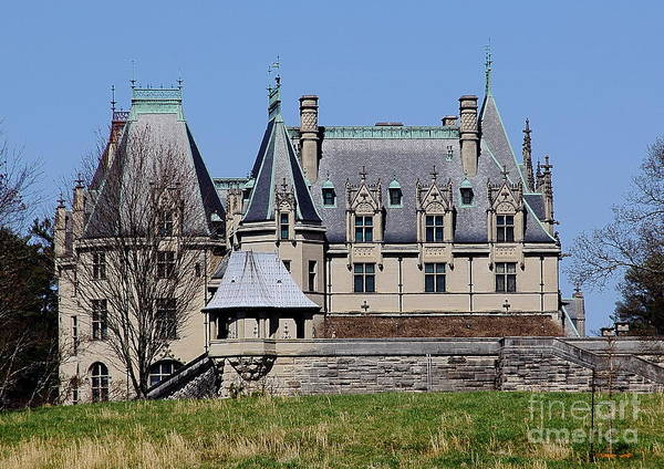 Photograph - Biltmore House - Side View by Allen Nice-Webb