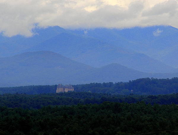 Photograph - Biltmore House With Mountains by Allen Nice-Webb