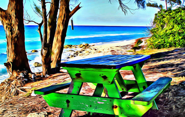 Wall Art - Digital Art - Bimini Bench by Anthony C Chen