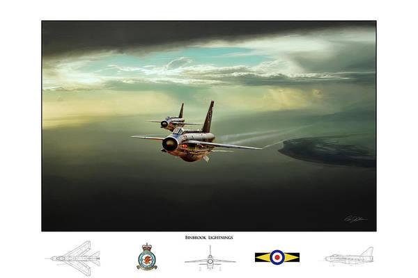 Lightning Digital Art - Binbrook Lightnings V2 by Peter Chilelli