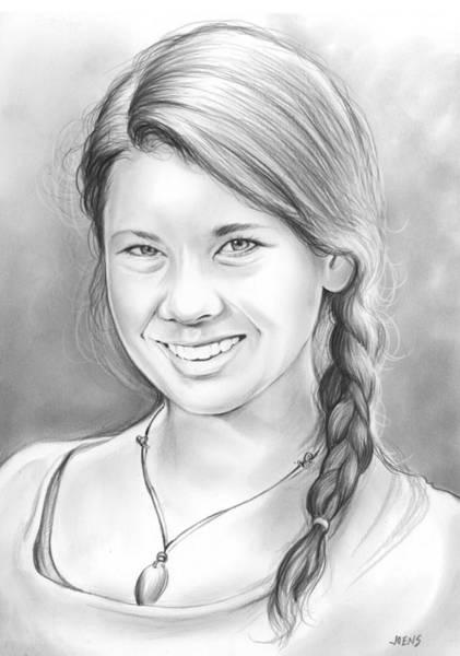 Drawing - Bindi Irwin by Greg Joens
