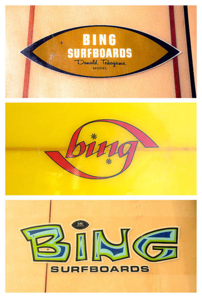 Wall Art - Photograph - Bing Surfboard Graphics by Ron Regalado