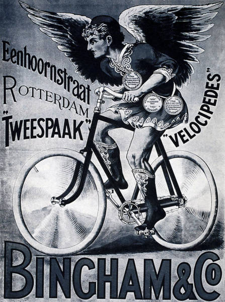 Wall Art - Mixed Media - Bingham And Co - Bicycle - Vintage Dutch Advertising Poster by Studio Grafiikka
