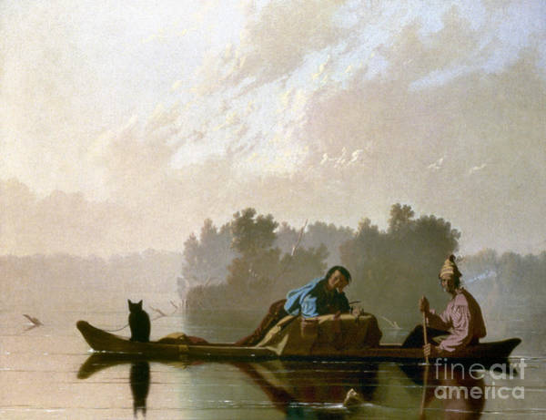 Photograph - Bingham: Fur Traders, 1845 by Granger