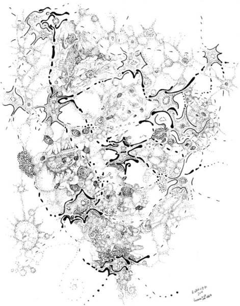 Wall Art - Drawing - Biology Of An Idea by Regina Valluzzi