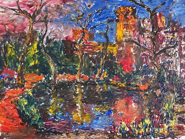 Painting - Biopond by Walt Brodis