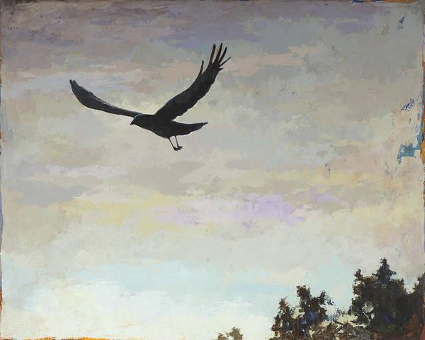 Crow Painting - Biosphere #4 by David Palmer
