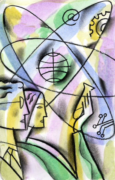 Curiosity Painting - Biotechnology by Leon Zernitsky
