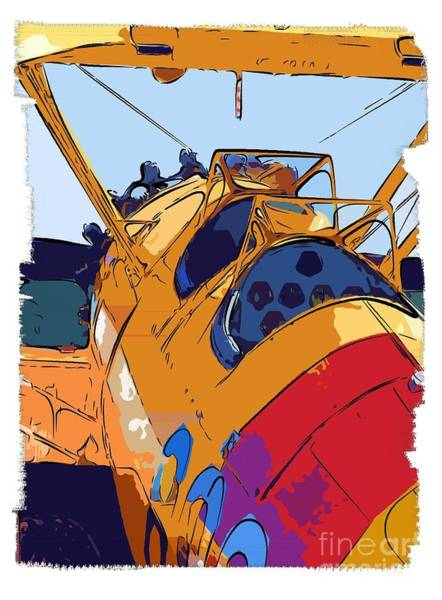 Diane Berry Wall Art - Painting - Biplane by Diane E Berry