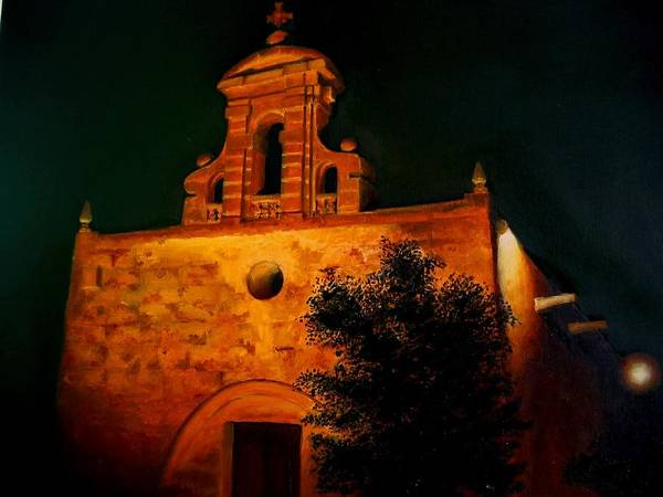 Benny Painting - Bir Miftuh Chapel by Benny Brimmer