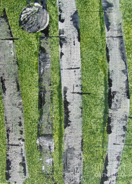 Painting - Birch - Green 4 by Jacqueline Athmann