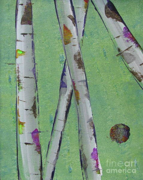 Painting - Birch - Lt. Green 2 by Jacqueline Athmann
