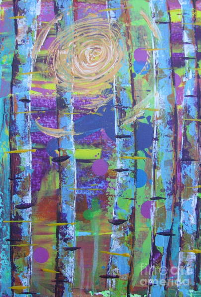 Painting - Birch 6 by Jacqueline Athmann
