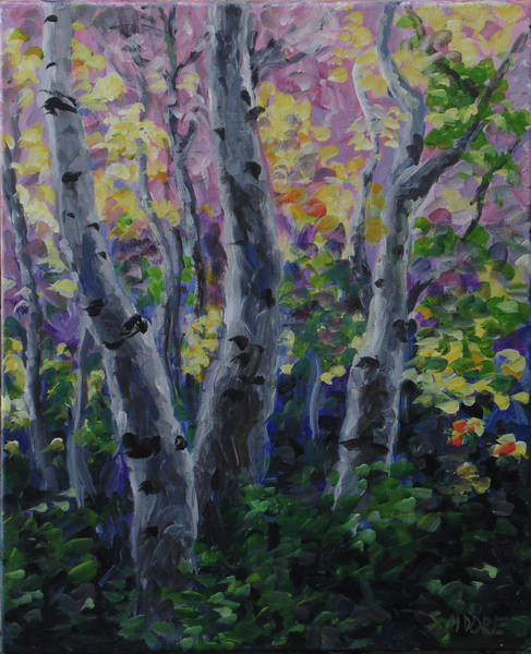 Painting - Birch Folly by Susan Moore