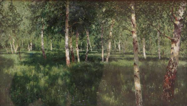 Birch Grove Art Print by Isaac Levitan