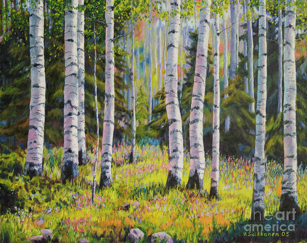 Salo Wall Art - Painting - Birch Grove by Veikko Suikkanen