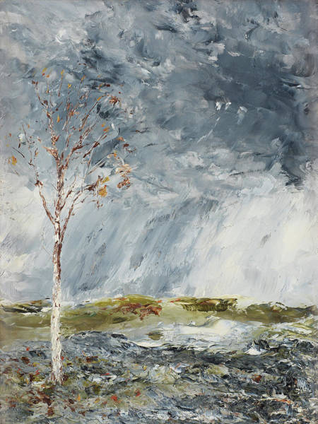 Painting - Birch In Autumn By August Strindberg 1902 by August Strindberg