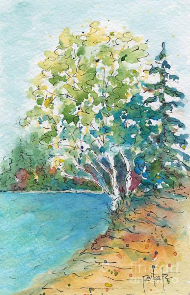 Painting - Birch On The Beach by Pat Katz