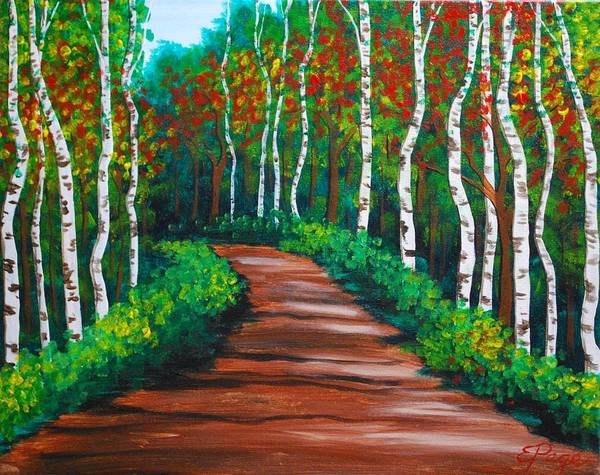 Painting - Birch Tree Path by Emily Page