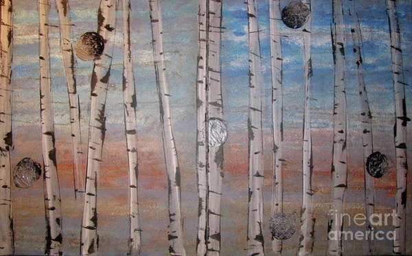 Painting - Birch Trees - Clouds by Jacqueline Athmann