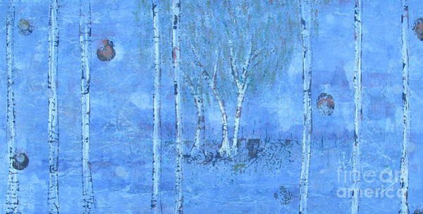 Painting - Birch Trees - The Patio by Jacqueline Athmann