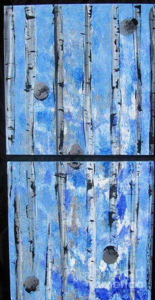 Painting - Birch Trees - Blue by Jacqueline Athmann
