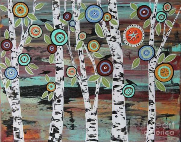 Wall Art - Painting - Birch Woods by Karla Gerard