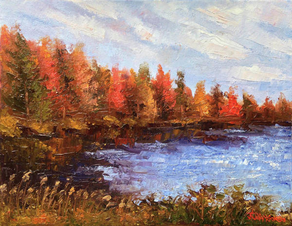 11x14 Painting - Birchwood Lake by Jason Williamson