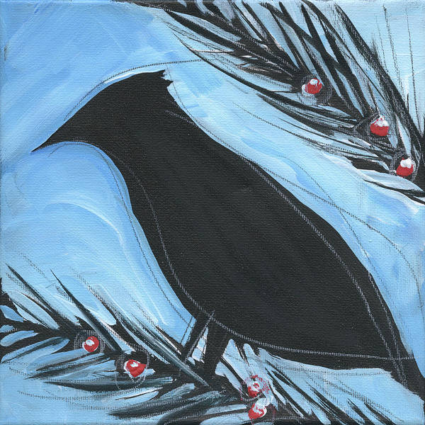 Painting - Bird And Berries #14 by Tim Nyberg