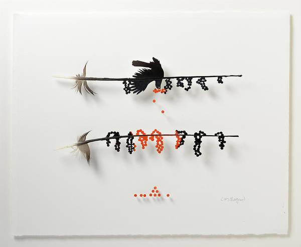 Wall Art - Mixed Media - Bird Berry by Chris Maynard