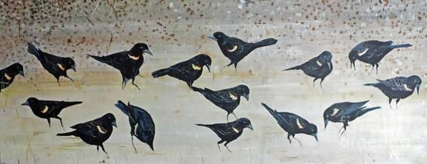 Painting - Bird Brunch by Lizi Beard-Ward