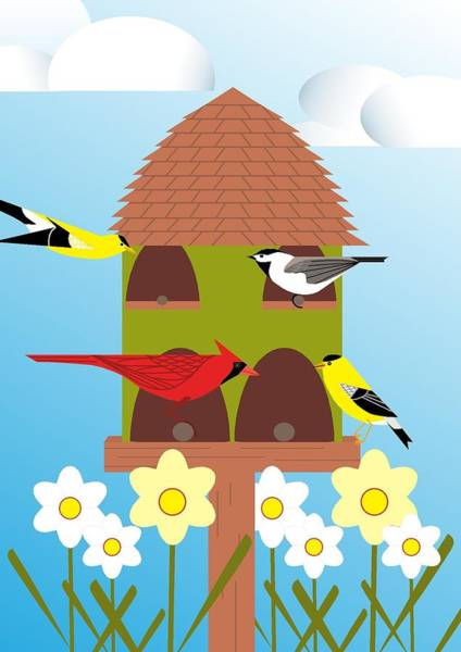Digital Art - Bird Feeder by Marie Sansone
