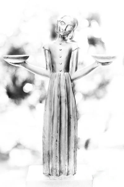 Photograph - Bird Girl In The Garden Of Good And Evil by Dale Powell