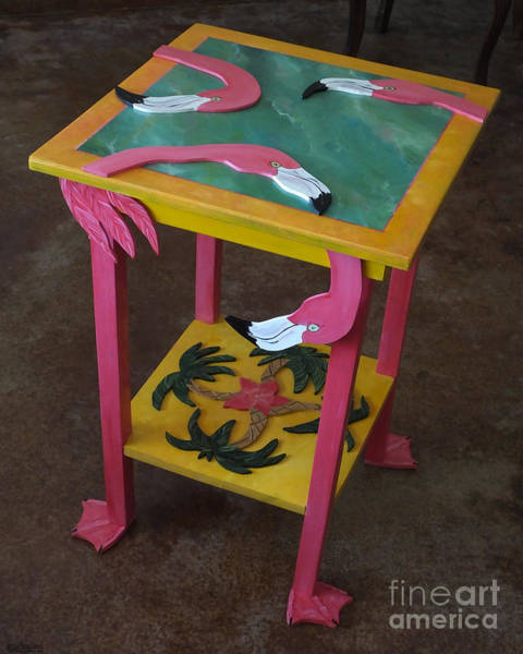Mixed Media - Barefootin' Table  by Lizi Beard-Ward