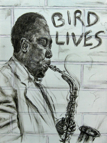 Yardbird Wall Art - Painting - Bird Lives by Michael Morgan