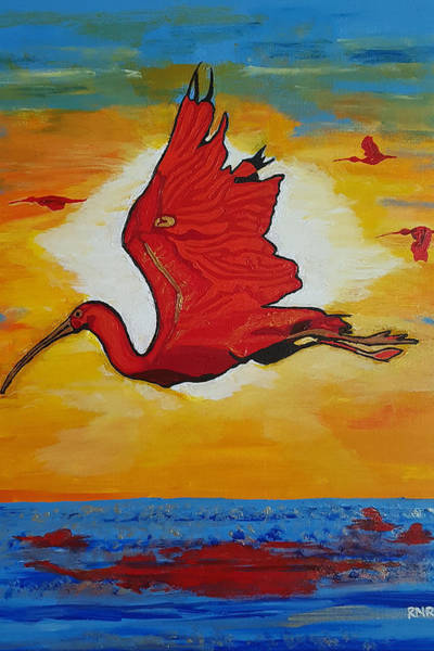 Painting - Bird Of Beauty, Loves Light In Flight by Rachel Natalie Rawlins