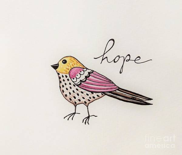 Painting - Bird Of Hope by Elizabeth Robinette Tyndall