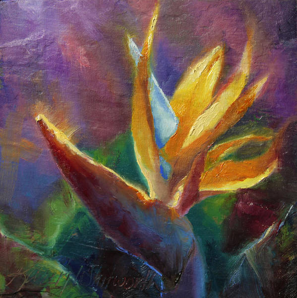 Painting - Bird Of Paradise - Tropical Hawaiian Flowers by Karen Whitworth