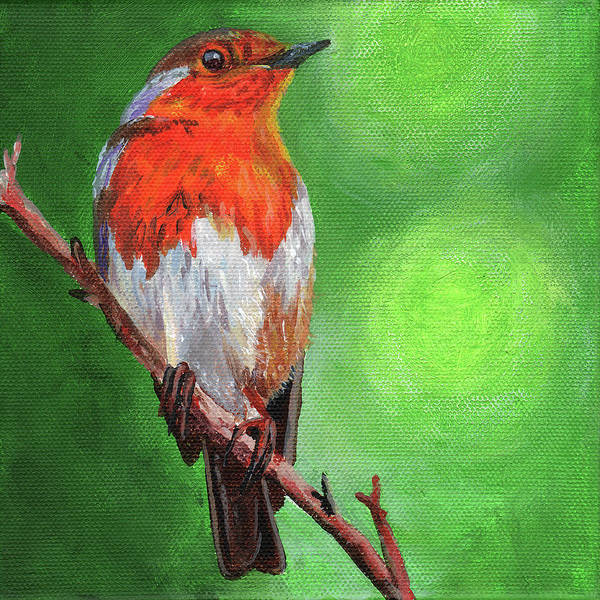 Wall Art - Painting - Bird On A Branch by Timithy L Gordon