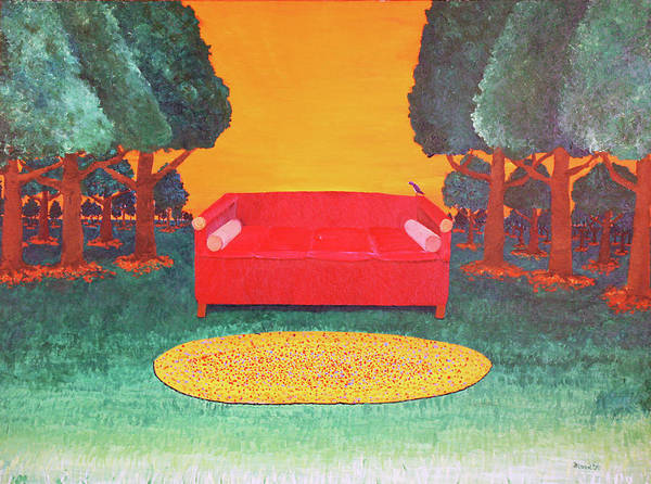 Painting - Bird On The Couch by Thomas Blood