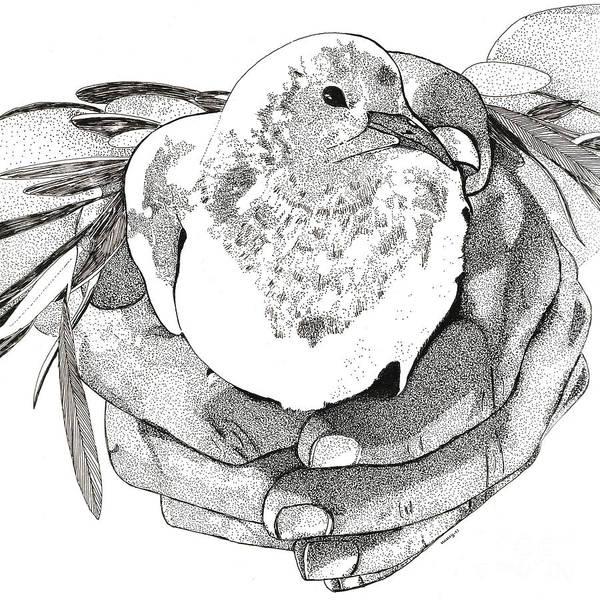 Olive Branch Digital Art - Bird Peace by Nancy Mergybrower