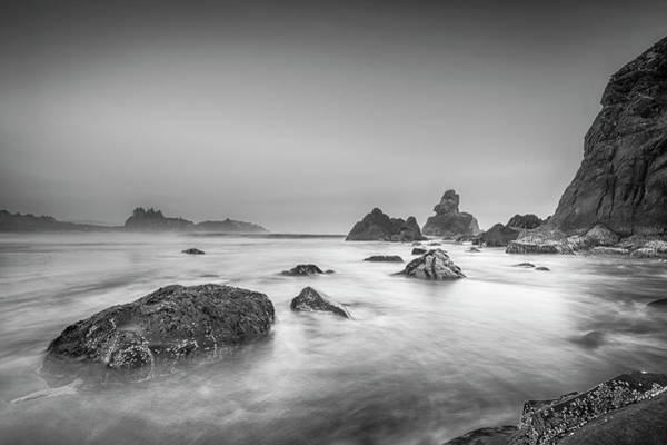 Photograph - Bird Rock Black And White by Scott Campbell