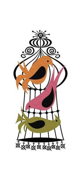 Digital Art - Bird Trio  by Donna Mibus
