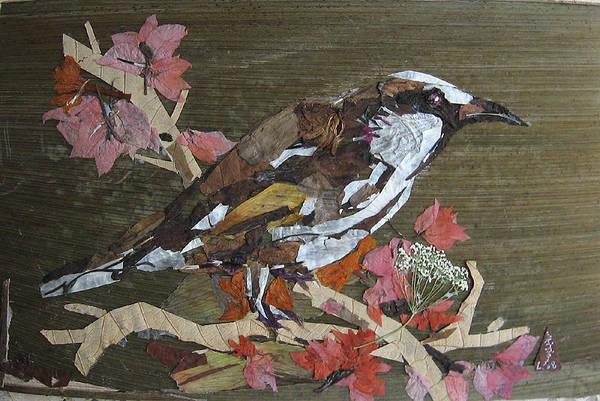 Eco Friendly Mixed Media - Bird White Eye by Basant Soni