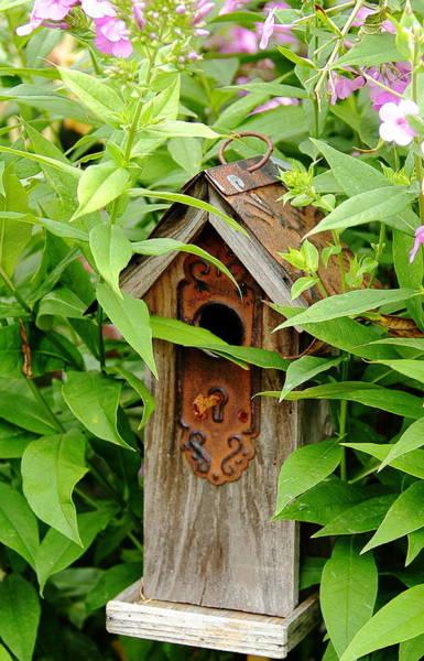 Photograph - Birdhouse Lock And Key by Allen Nice-Webb