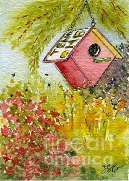 Wall Art - Painting - Birdhouse Series Five by Lisa Bell